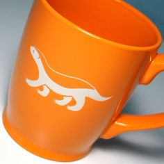 Check out this Honey Badger Mug in orange from Bread and Badger