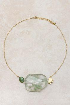 Minty Elephant Charm Necklace