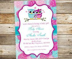 Libro y búho bebé ducha invitación por JustRightDesigns954 en Etsy