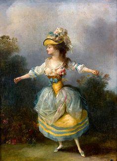 Jean-Frédéric Schall, Danseuse à la robe bleue et jaune (n.d - n.d) on ArtStack #jean-frederic-schall #art