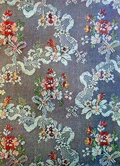Tejido de seda, Rococo Francés.SigloXVIII