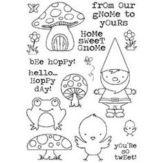 037088 Darcie`s Clear Stamp Set From Our Gnome