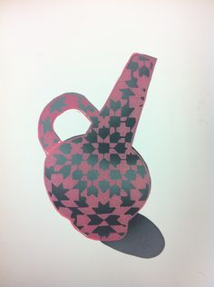 """""""Untitled"""" 2015 Stencil and woodblock By Ina Arraoui"""