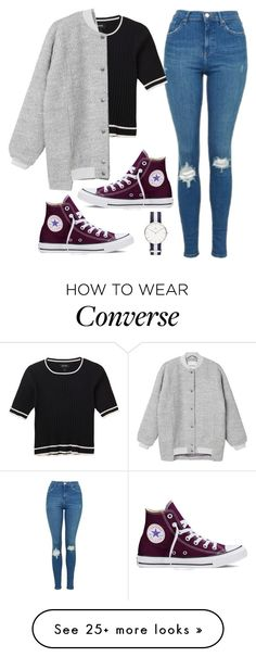 """""""Untitled #640"""" by lelephant on Polyvore featuring Converse, Topshop and Monki"""