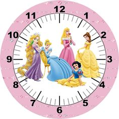 .disney princess clock