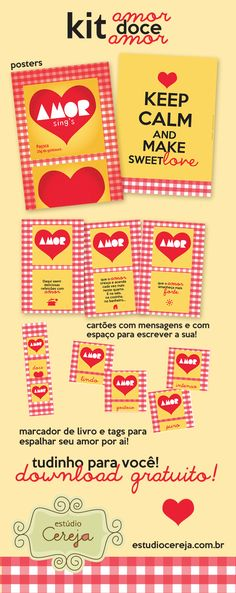 Poster Grátis - Keep Calm and make love Make Love, How To Make, Valentines Day Party, Free Printables, Diy And Crafts, Download, Fez, Keep Calm, Gifts