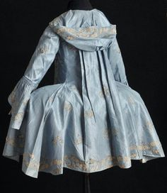 Posted on the blog: Fantastic piece of late rococo fashion- Hooded Pet en l'ier Jacket, circa 1790. #fashionhistory
