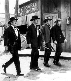 1957: Kirk Douglas, Burt Lancaster, John Ireland and DeForest Kelley in 'Gunfight at the OK Corral' - Picture: Everett Collection / Rex Features