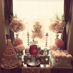 Candy buffet/ hastane odası süsleme Dyi, Baby Shower Decorations, Table Decorations, New Project Ideas, Hospital Room, Desert Table, Sewing Box, Types Of Flowers, The Balloon