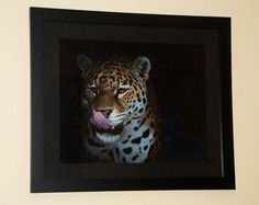 OUT OF THE DARK, a Jaguar painting by Kathrin Guenther. Acrylic on board, 16 inch by 20 inch. 310 Euro unframed or 380 Euro framed in a black frame Out Of The Dark, Graphite Drawings, Wildlife Art, Art Paintings, Jaguar, Equestrian, The Darkest, Euro, Pets
