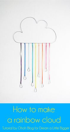 Ohoh Blog - diy and crafts: How to make a rainbow cloud