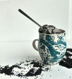 black  sesame ice cream.Japan