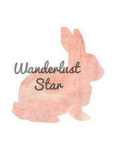 Pink Watercolor Rabbit Print Rabbit Print Rabbit by WanderlustStar
