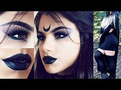 Gothic Witch HALLOWEEN Makeup Tutorial! + Costume Outfit Idea & Hair! - YouTube