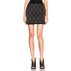 Alexander Wang Paneled Mini Skirt ($155) ❤ liked on Polyvore ...
