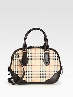 e1dc8987ccd3 Burberry - Orchard Medium Coated Canvas Bowling Bag - Saks.com
