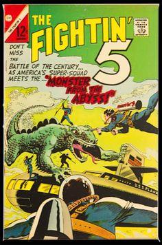 Charlton Comics, Thing 1 Thing 2, Battle, America, Usa