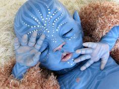 Navi Avatar style reborn baby by Little Liesign.