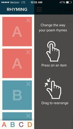 Great for on-the-go writing on the subway or sitting shotgun in your morning carpool, Poetreat works as your personal editor, suggesting rhymes, counting syllables and tapping into your inner poet.