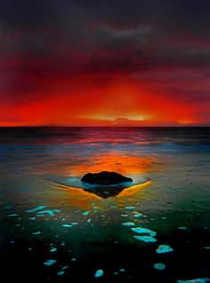 Seamill Beach, Ayrshire, Scotland - Sunset Colours