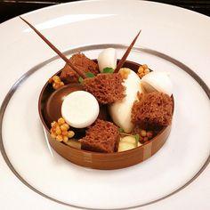 Peanut mousse- ginger icecream-five spices caramel