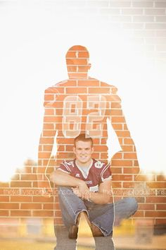 Hunter's Senior SessionSenior Session// double exposure // Football Styled Senior Session // Male Senior Session //  thekellysproductions.com