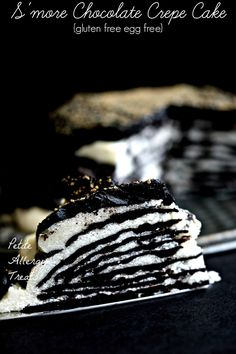 S'more Chocolate Crepe Cake| PetiteAllergyTreats Gluten free eggless crepes #glutenfree, #crepes