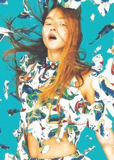 devon aoki for kenzo spring/summer 2014 ad campaign by pierpaolo ferrari.