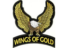 Wings of gold eagle patch small