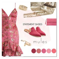 """statement shoes : mules"" by katymill ❤ liked on Polyvore featuring Zimmermann, Malone Souliers, Kjaer Weis, Sans Souci, Mint Velvet, Rosantica, mules and statementshoes"
