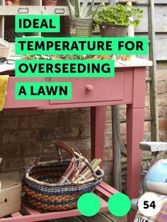 Ideal Temperature for Overseeding a Lawn. Overseeding is the process of planting new grass seed into an already-existing lawn. Overseeding is often required when lawns start to thin due to poor cultural management, disease or environmental stresses like drought or heat. If the damaged lawn contains 50 percent or more of desirable grass species, it...