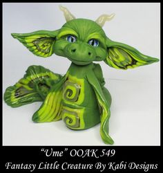 Fantasy Little Sea Dragon DollHouse Art Doll Polymer Clay CDHM OOAK IADR Ume