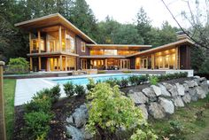 Collins Lane, Bowen Island Residence by FDV Architect. #architecture #residential