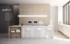 Kjøkkentrendene som varer i årevis fremover Dining Bench, New Homes, Architecture, Inspiration, Furniture, Home Decor, Fireplace Ideas, Kitchens, Walls