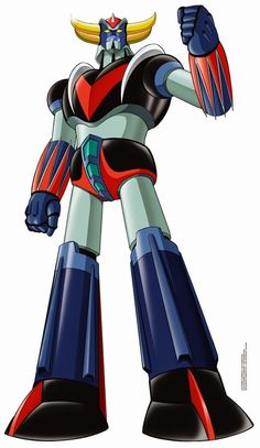 UFO Robot Grendizer by Kazuhiro Ochi Cool Robots, I Robot, Robot Art, Old Cartoon Movies, Combattler V, Gundam, Ulysse 31, Japanese Superheroes, Robot Cartoon