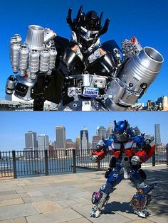 Geek Creates Amazing Transformers Costumes with Everyday Household Items Transformer Costume, Cosplay Costumes, Halloween Costumes, Best Cosplay Ever, Monster Musume, Optimus Prime, Tech Gadgets, More Pictures, Household Items