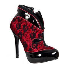 Ellie Black Lace. #fashion #gothic #shoes