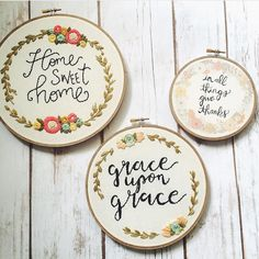 Just wanted to share with you guys the awesome loveliness that is @frances_bluebird. Hand stitched lettering and just pure goodness