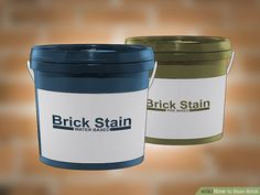 How to Stain Brick. People stain brick for many reasons: to make repairs match the rest of the wall, to complement surrounding decor, or just to create a great color change. Unlike paint, stain will seep into and bond with the brick,. Stained Brick Exterior, Stain Brick, Types Of Bricks, Brick Steps, Home Exterior Makeover, Water Based Stain, Patio Flooring, Brick Patios, Water Stains