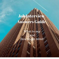 Job Interview Answers Guide Reveals Word-For-Word Exactly What You Need To Say To Get Hired. newcareerandmore....