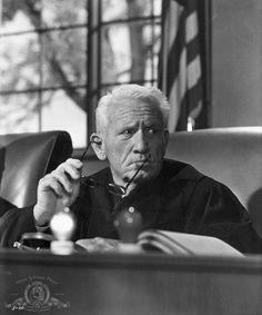 "Spencer Tracy en ""Vencedores o Vencidos"" (Judgment at Nuremberg), 1961"