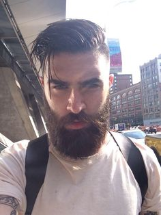 Mens Hairstyles With Beard, Cool Hairstyles For Men, Top Hairstyles, Haircuts For Men, Medium Beard Styles, Beard Styles For Men, Hair And Beard Styles, Great Beards, Awesome Beards