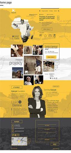 Website for Kulczyk Foundation by Marcin Piwnicki, via Behance