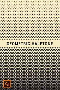 Geometric Halftone Tutorial - Gometric Halftone Pattern in Adobe Illustrator - Graphic Design Lessons, Graphic Design Tutorials, Graphic Design Branding, Illustrator Tutorials, Adobe Illustrator, Photoshop, Magazine Design Inspiration, Halftone Pattern, Conceptual Design