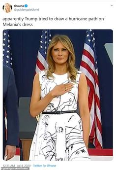 Melania Trump Dress, First Lady Melania Trump, Beautiful One, Beautiful Outfits, Beautiful Clothes, Funny News Stories, Alexander Mcqueen Dresses, Learn Korean, Social Media