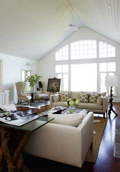 Must haves: High ceilings, abundance of natural light, dark hardwood floors, light furniture, & incorporating an easel into my living room decor :)
