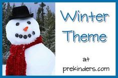 Pre-K & Preschool theme ideas for Winter Find more Winter Activities for Pre-K Books Check here for a complete list of Books about Winter Snowman Art {Art} Long before Sheryl from Teaching 2 and 3 Year Kindergarten Themes, Preschool Themes, Preschool Activities, Preschool Family, Preschool Winter, Preschool Curriculum, Homeschool, Winter Kids, Winter Christmas