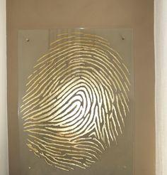 My Fingerprint on Beige Wall