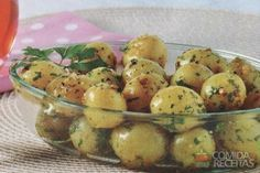 Receita de Batata bolinha temperada - Comida e Receitas