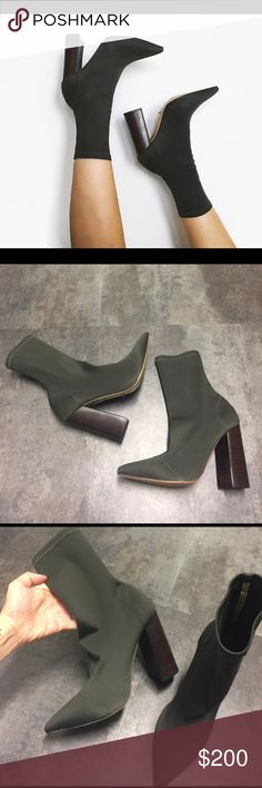 TONY BIANCO SOCK BOOTS Never worn. Size 7. Authentic! No box or dust bag. NOT YEEZY!! BRAND IS TONY BIANCO  Yeezy Shoes Ankle Boots & Booties